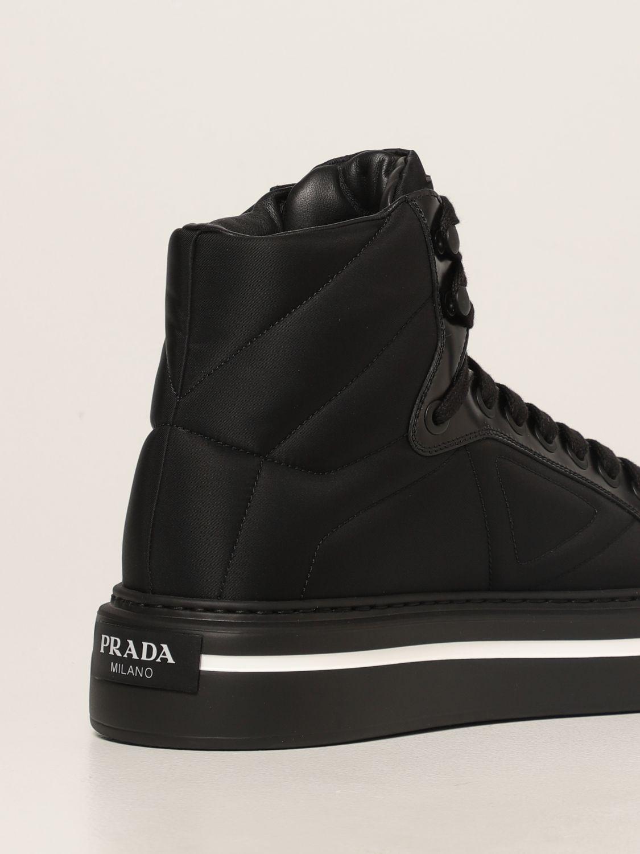 Sneakers Prada: Sneakers Prada in pelle spazzolata e Re-nylon nero 3