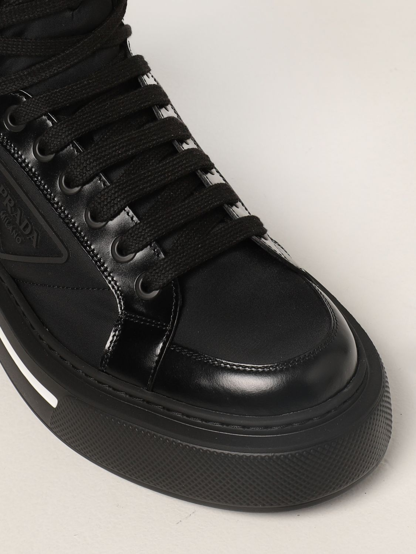 Sneakers Prada: Sneakers Prada in pelle spazzolata e Re-nylon nero 4