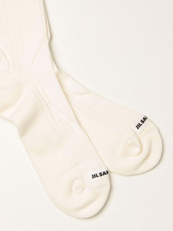Calcetines Jil Sander: Calcetines hombre Jil Sander blanco 2