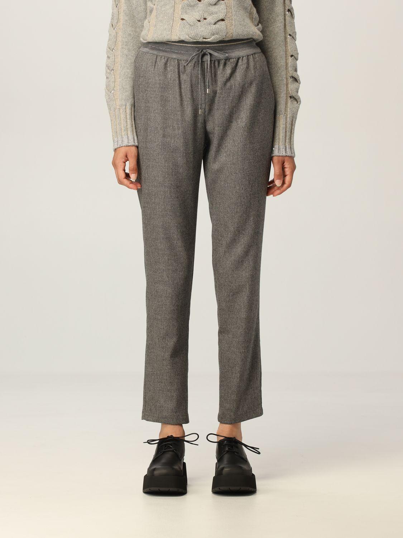 Pantalone Lorena Antoniazzi: Pantalone jogging Lorena Antoniazzi in lana grigio 1