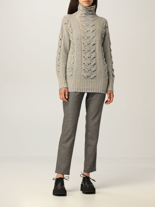 Pantalone Lorena Antoniazzi: Pantalone jogging Lorena Antoniazzi in lana grigio 2