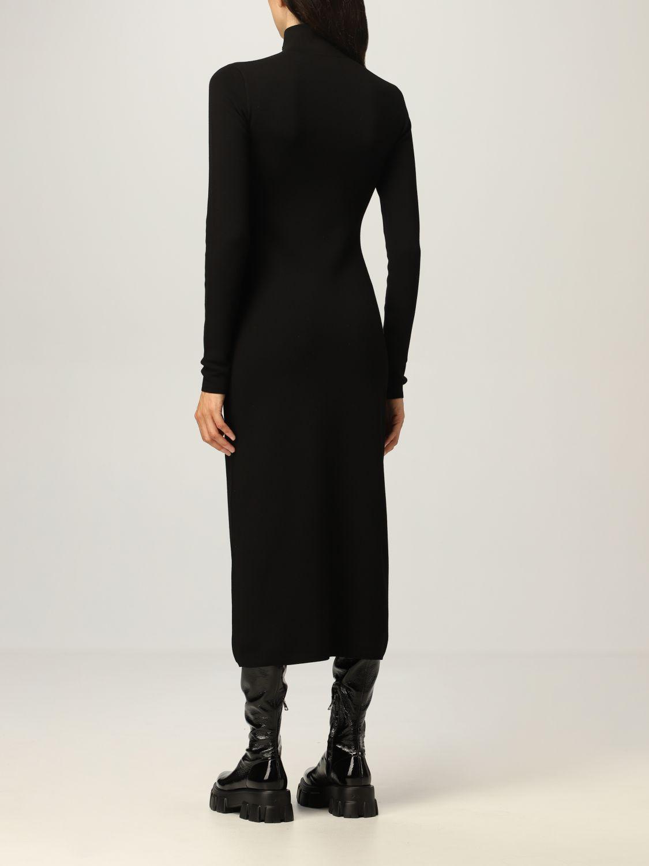 Abito Prada: Abito dolcevita Prada in misto lana stretch con zip nero 3