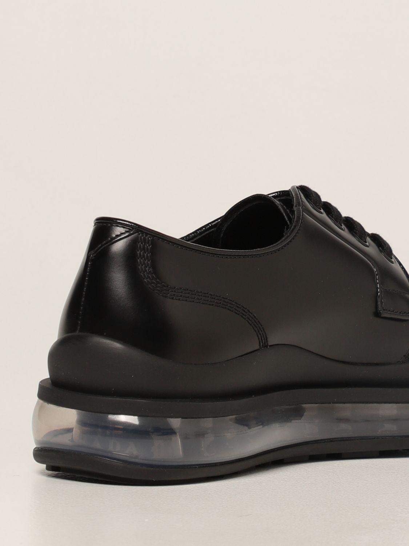 Scarpe stringate Prada: Sneakers Prada in pelle spazzolata nero 3