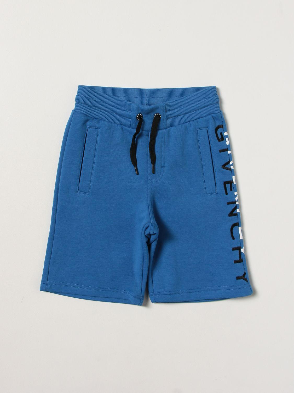 Shorts Givenchy: Shorts kids Givenchy gnawed blue 1
