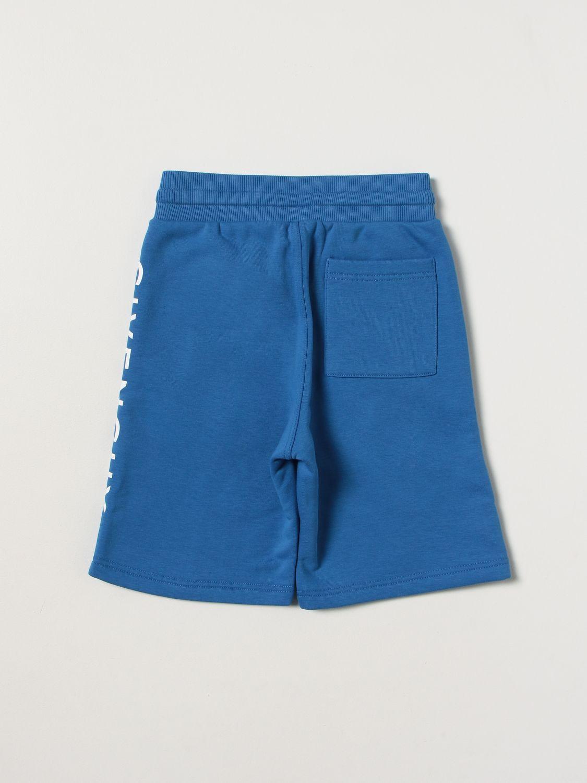 Shorts Givenchy: Shorts kids Givenchy gnawed blue 2