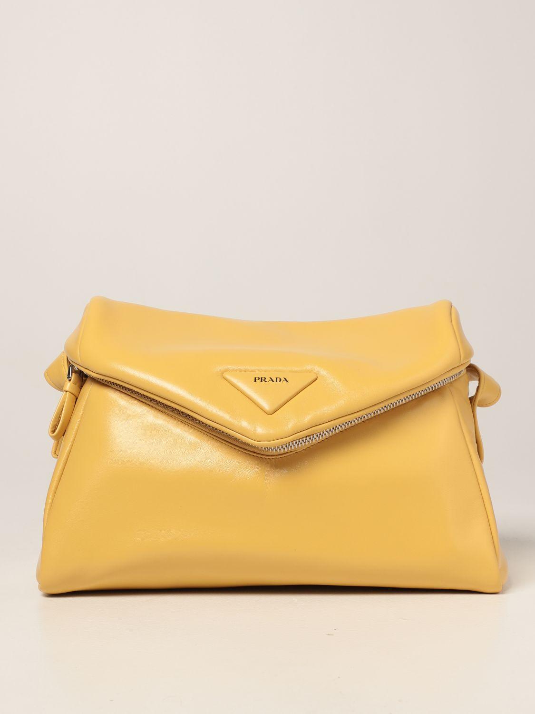 Borsa a spalla Prada: Borsa Prada in nappa giallo 1