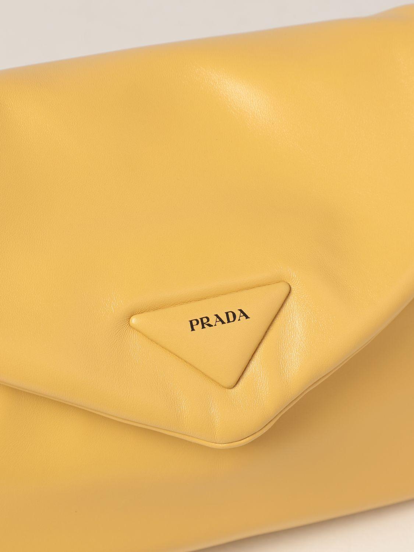 Borsa a spalla Prada: Borsa Prada in nappa giallo 4