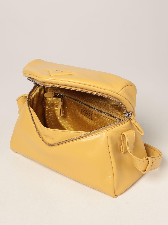 Borsa a spalla Prada: Borsa Prada in nappa giallo 5