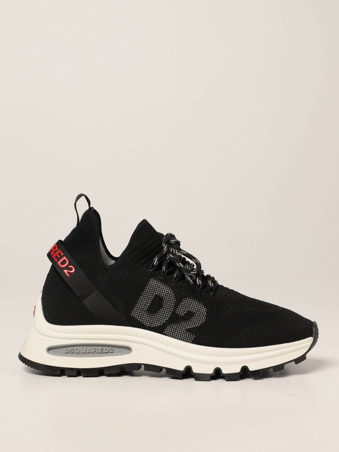 Sneakers Dsquared2: Sneakers Speedster Dsquared2 in maglia stretch nero 1