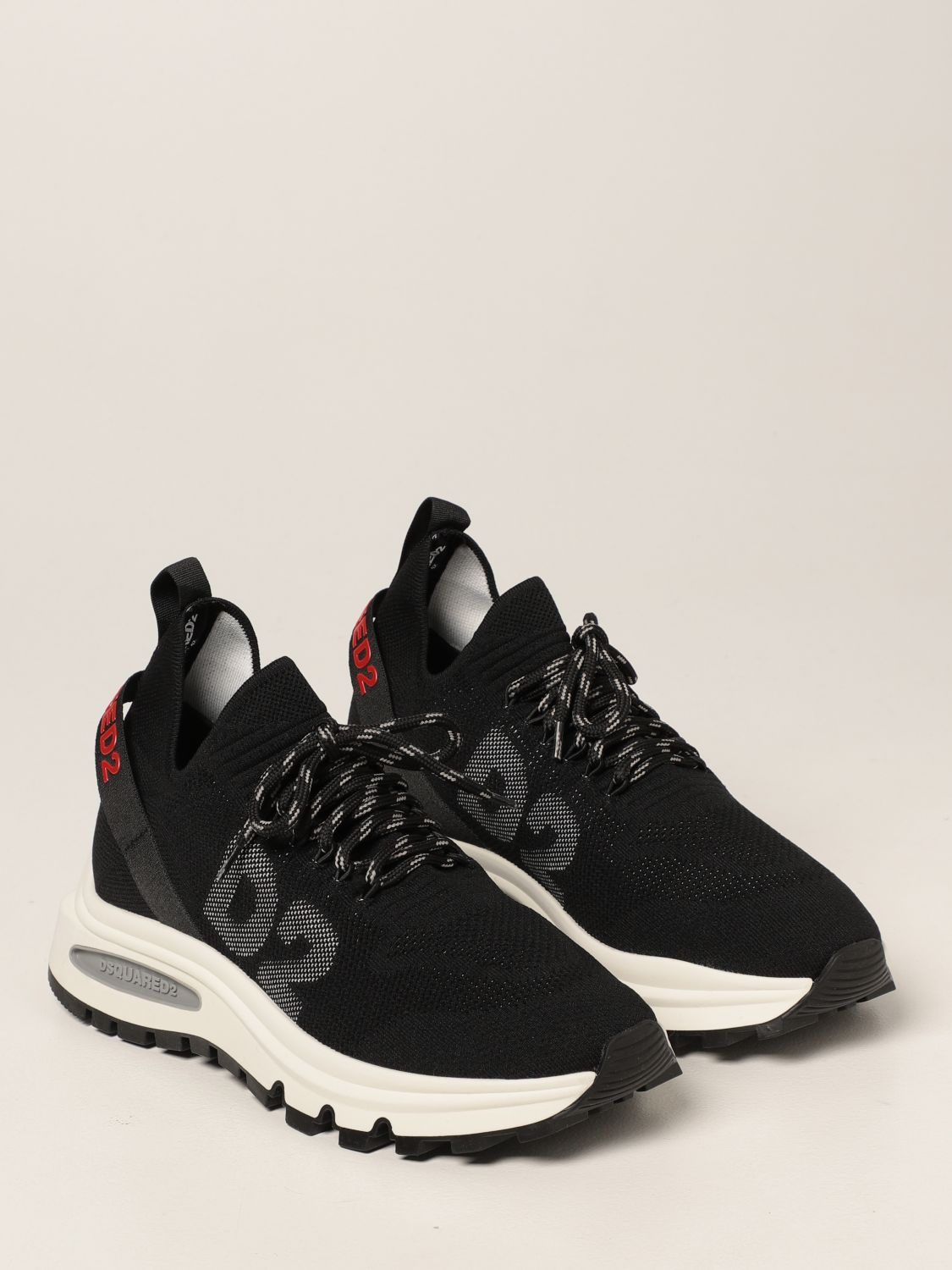 Sneakers Dsquared2: Sneakers Speedster Dsquared2 in maglia stretch nero 2