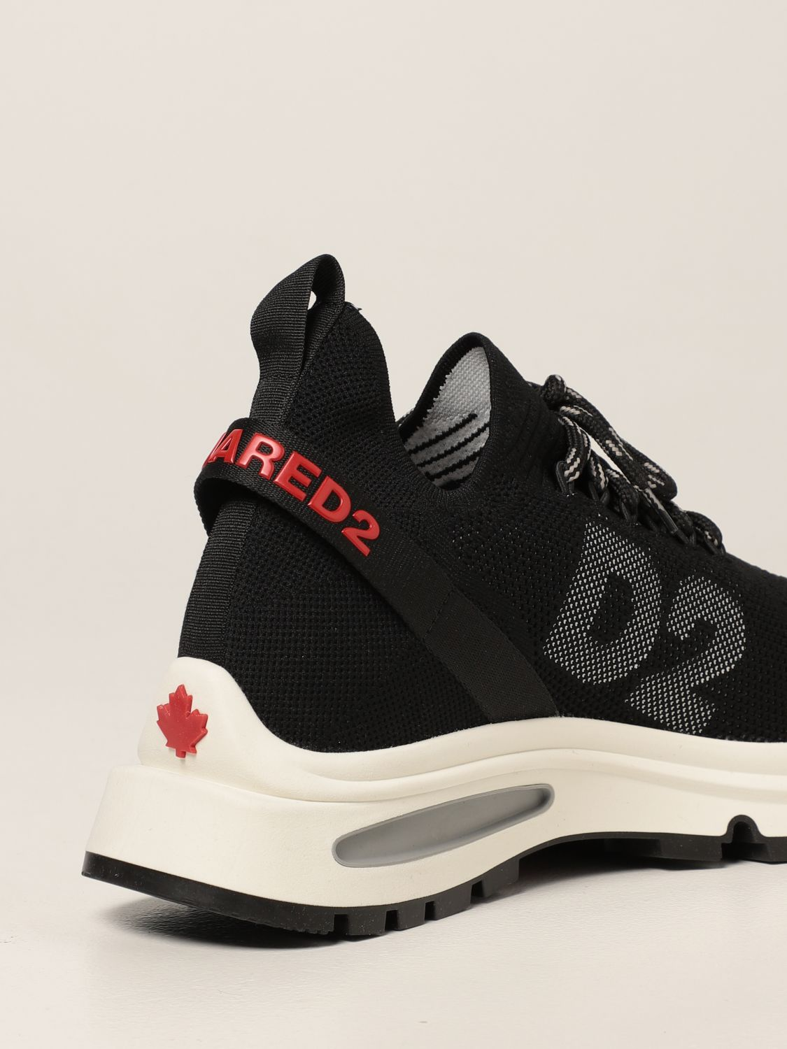 Sneakers Dsquared2: Sneakers Speedster Dsquared2 in maglia stretch nero 3