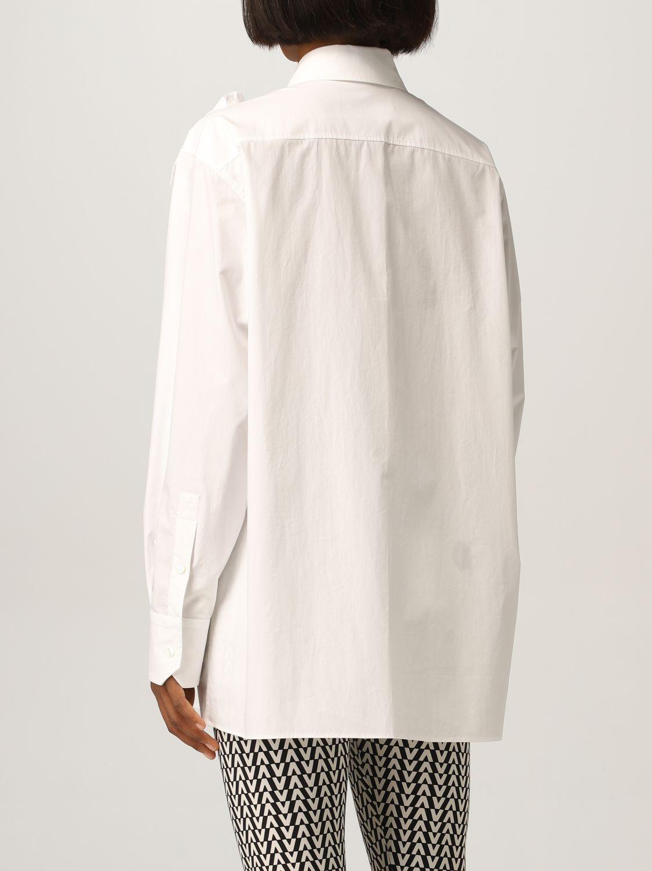 Camicia Valentino: Camicia Valentino con applicazioni floreale bianco 3