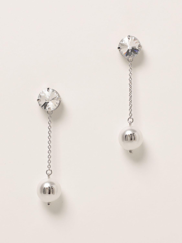 Gioielli Miu Miu: Orecchini Solitaire Jewels Miu Miu bianco 1