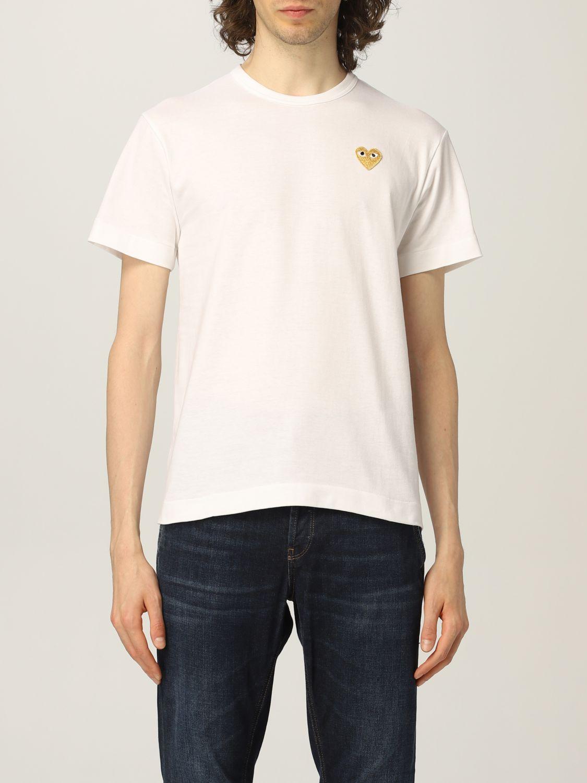 T-shirt Comme Des Garcons Play: T-shirt uomo Comme Des Garcons Play bianco 1