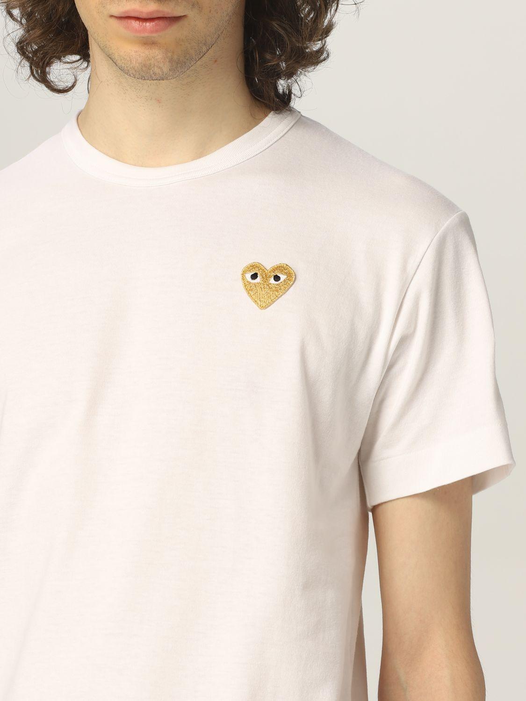 T-shirt Comme Des Garcons Play: T-shirt uomo Comme Des Garcons Play bianco 3