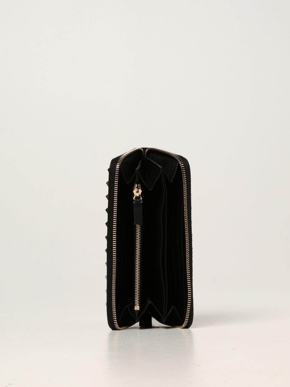 Portafoglio Valentino Garavani: Portafoglio Rockstud Valentino Garavani in pelle e borchie nero 2