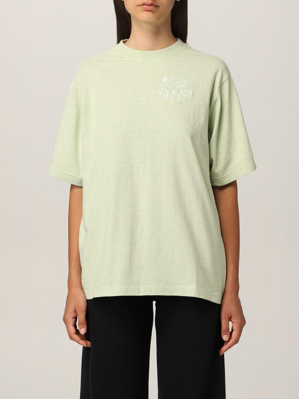 T-shirt Kenzo: T-shirt Kenzo con tigre ricamata verde 1