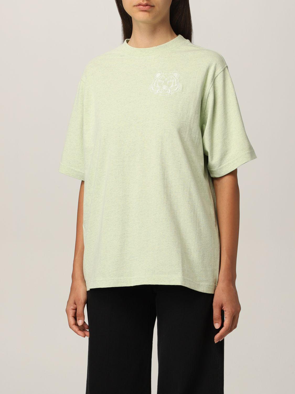 T-shirt Kenzo: T-shirt Kenzo con tigre ricamata verde 3