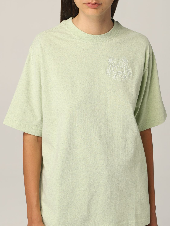 T-shirt Kenzo: T-shirt Kenzo con tigre ricamata verde 4
