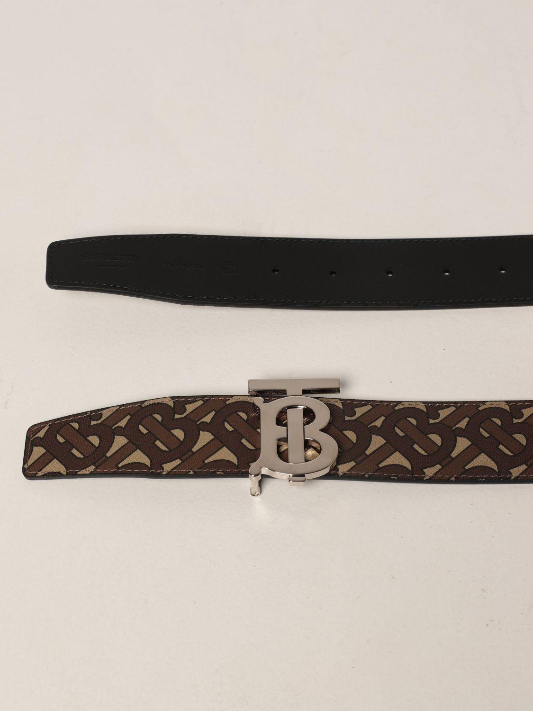 Cintura Burberry: Cintura Burberry in E-canvas con fibbia TB marrone 2