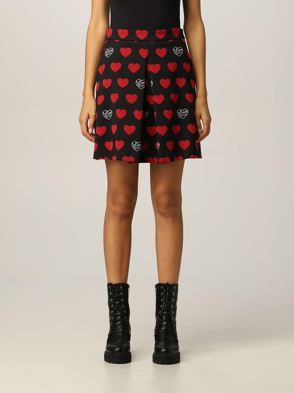 Skirt Love Moschino: Love Moschino skirt with hearts black 1