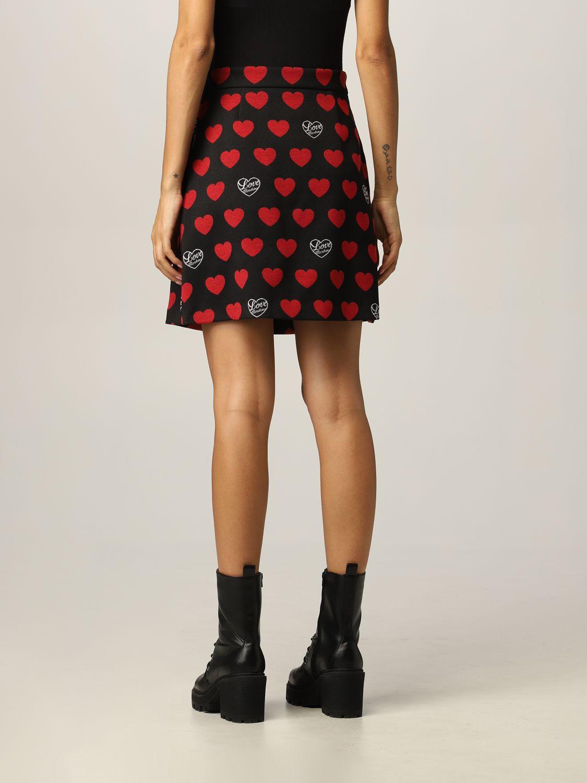 Skirt Love Moschino: Love Moschino skirt with hearts black 2