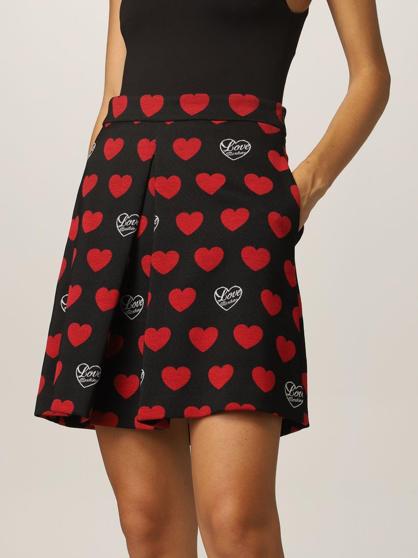Skirt Love Moschino: Love Moschino skirt with hearts black 3