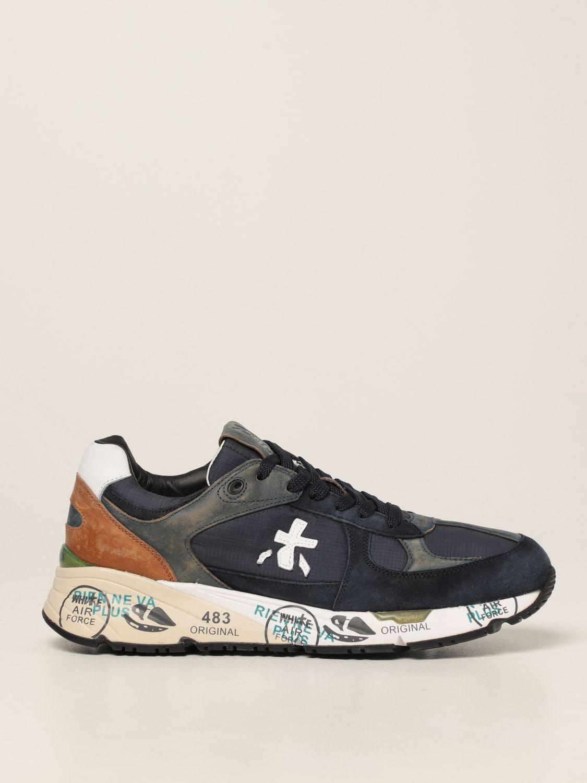 Sneakers Premiata: Sneakers Mase Premiata in nylon e camoscio blue 1