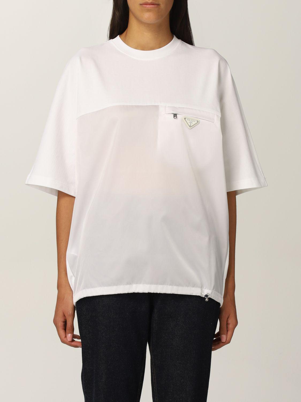 T-shirt Prada: T-shirt donna Prada bianco 1