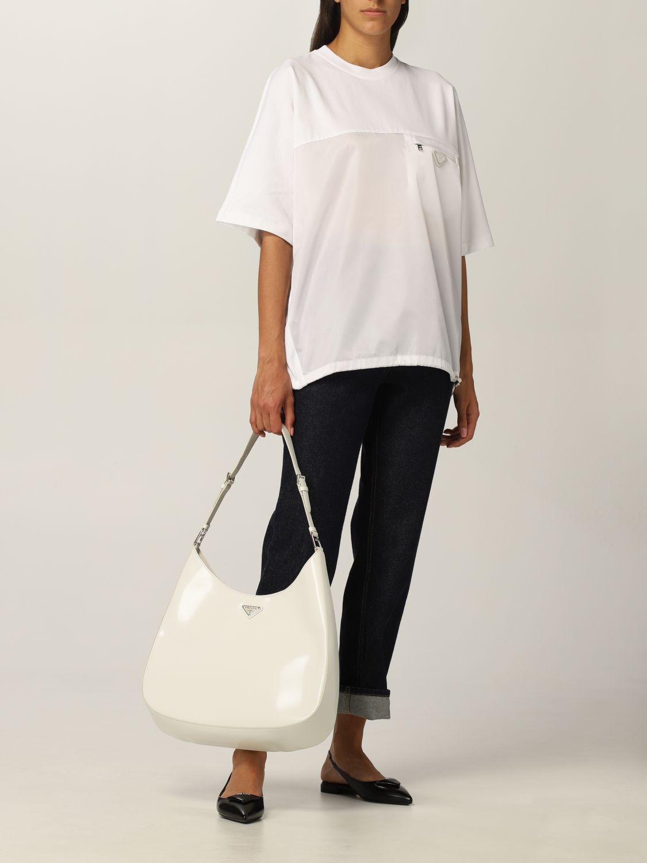 T-shirt Prada: T-shirt donna Prada bianco 2