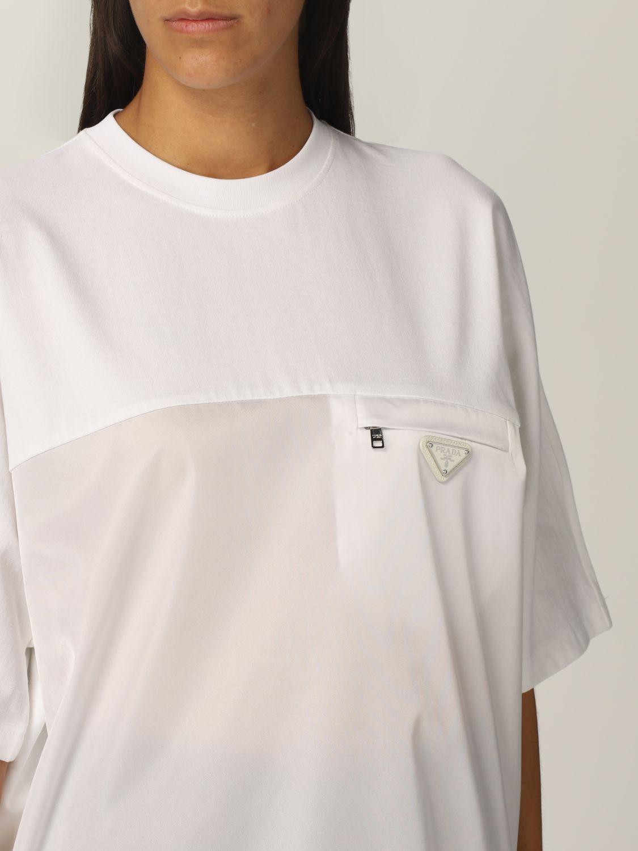 T-shirt Prada: T-shirt donna Prada bianco 5