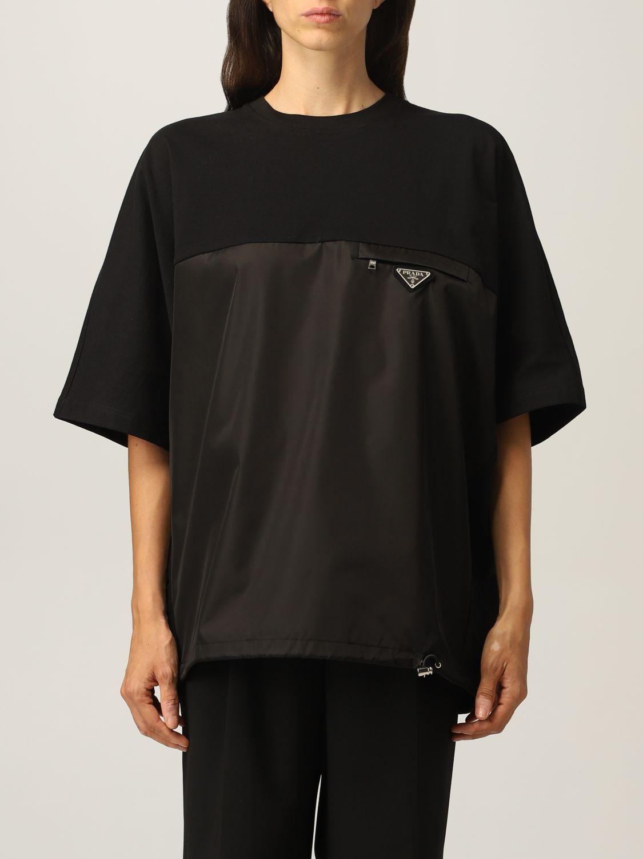 T-shirt Prada: T-shirt donna Prada nero 1