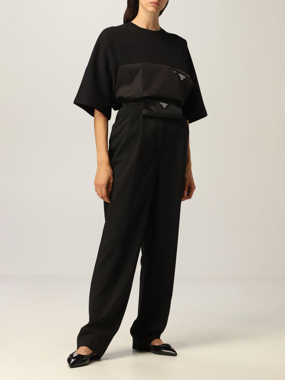 T-shirt Prada: T-shirt donna Prada nero 2