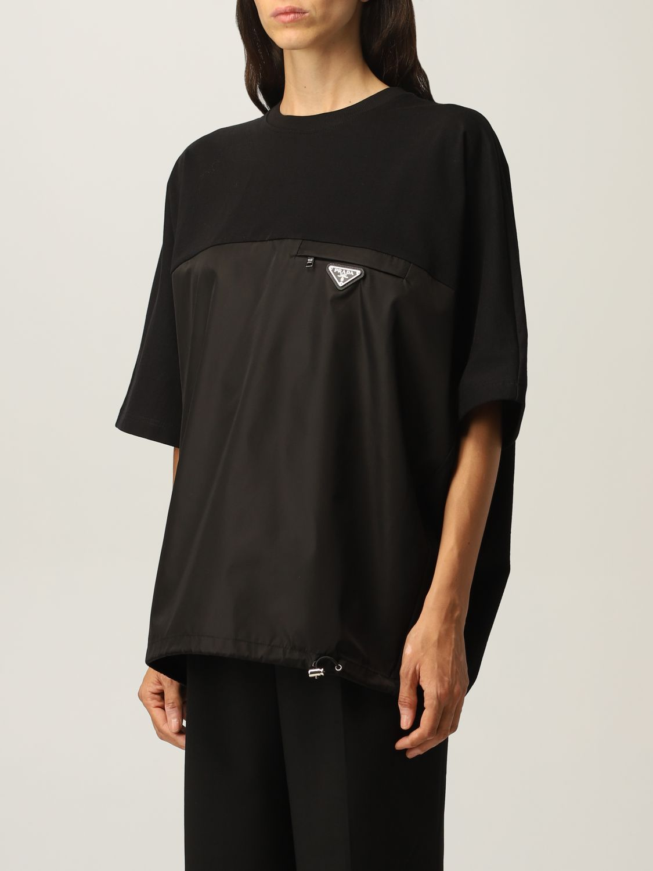 T-shirt Prada: T-shirt donna Prada nero 4