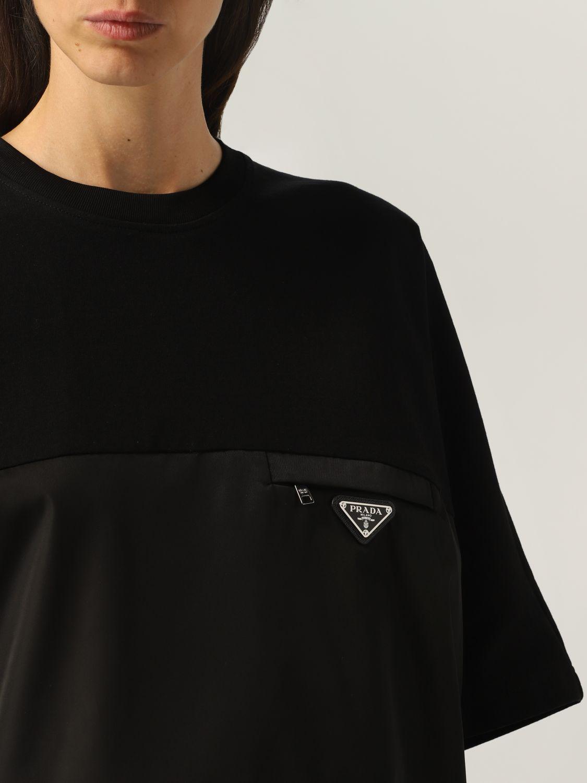 T-shirt Prada: T-shirt donna Prada nero 5
