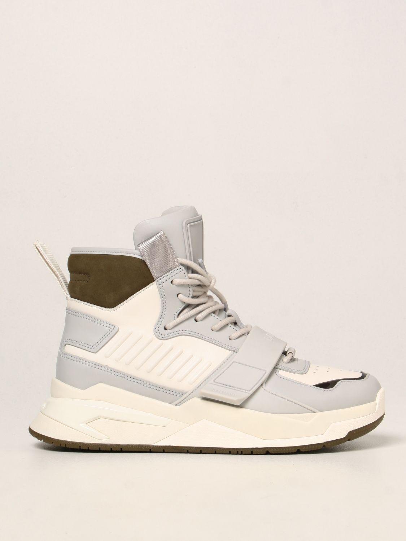 Sneakers Balmain: Sneakers high top Balmain in pelle bianco 1