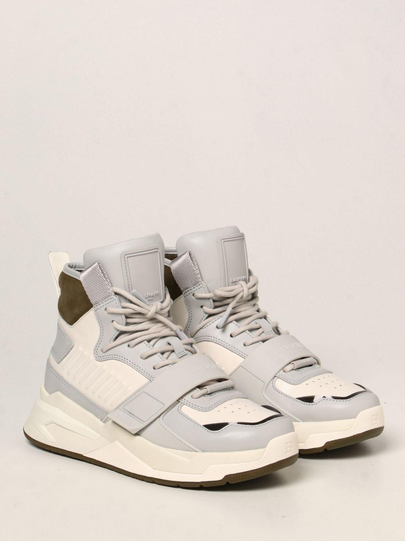 Sneakers Balmain: Sneakers high top Balmain in pelle bianco 2