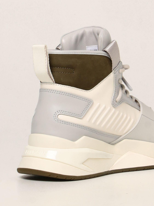Sneakers Balmain: Sneakers high top Balmain in pelle bianco 3