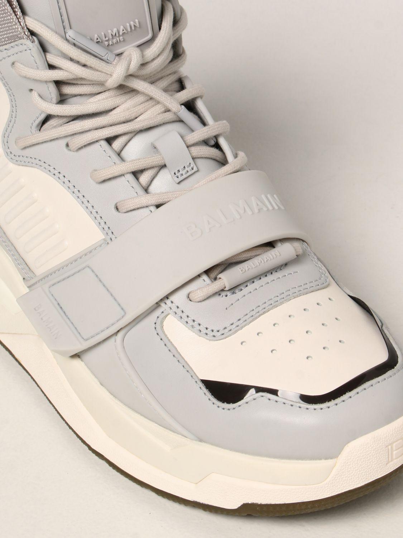 Sneakers Balmain: Sneakers high top Balmain in pelle bianco 4