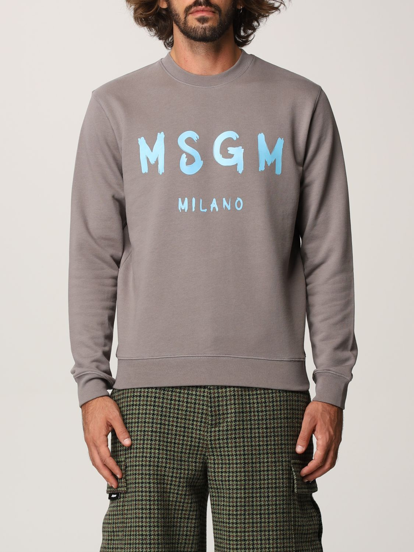 Felpa Msgm: Felpa Msgm con logo grigio 1