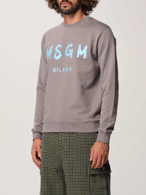 Felpa Msgm: Felpa Msgm con logo grigio 4