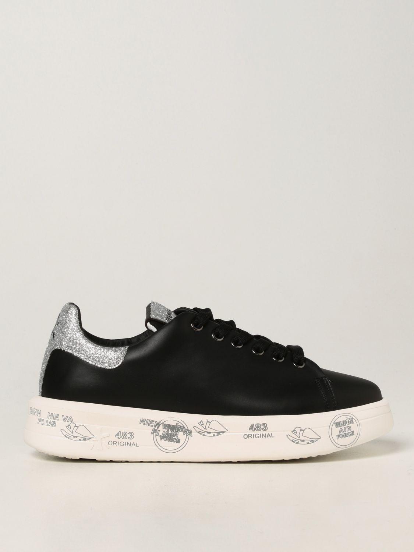 Sneakers Premiata: Sneakers Belle Premiata in pelle liscia nero 1
