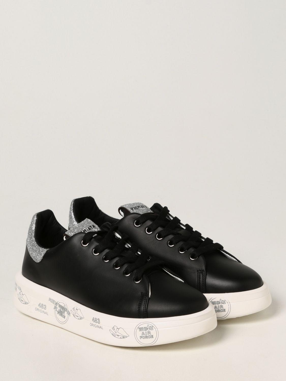 Sneakers Premiata: Sneakers Belle Premiata in pelle liscia nero 2
