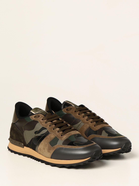 Sneakers Valentino Garavani: Sneakers Rock Runner Valentino Garavani camouflage verde 2