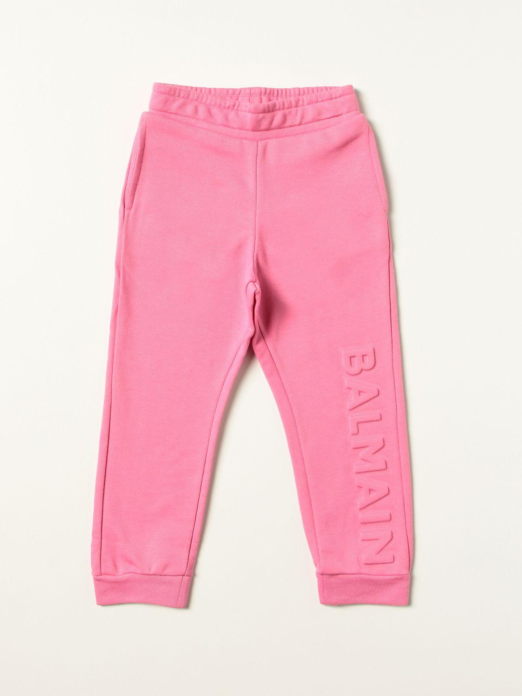 Pants Balmain: Pants kids Balmain fuchsia 1