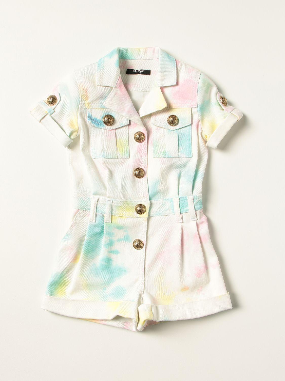 Tracksuit Balmain: Balmain tie dye cotton romper multicolor 1