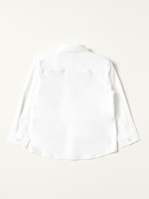 Shirt Burberry: Burberry shirt in stretch cotton poplin with monogram white 2