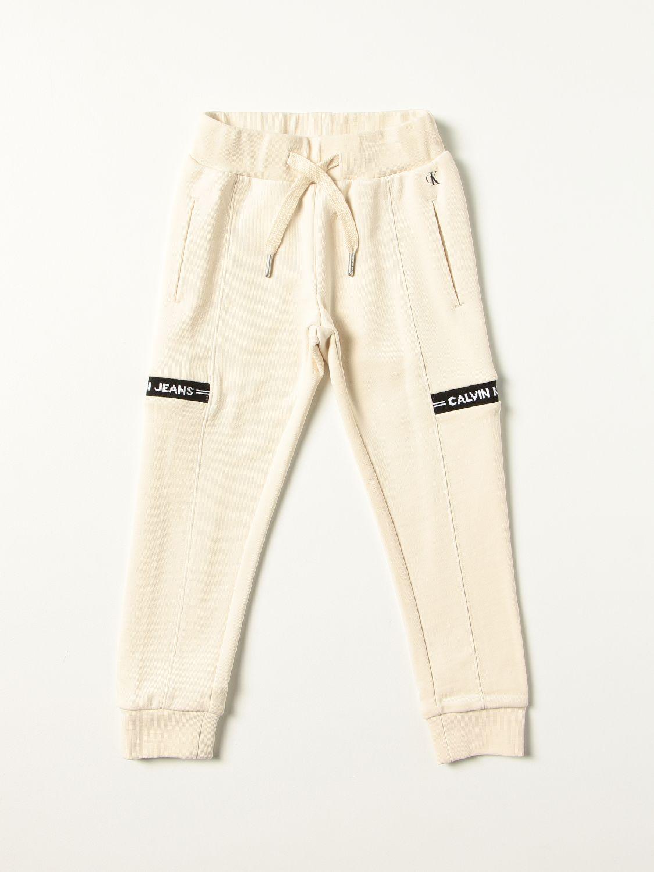 Pantalone Calvin Klein: Pantalone bambino Calvin Klein ecru 1