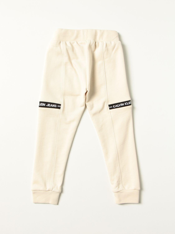 Pantalone Calvin Klein: Pantalone bambino Calvin Klein ecru 2