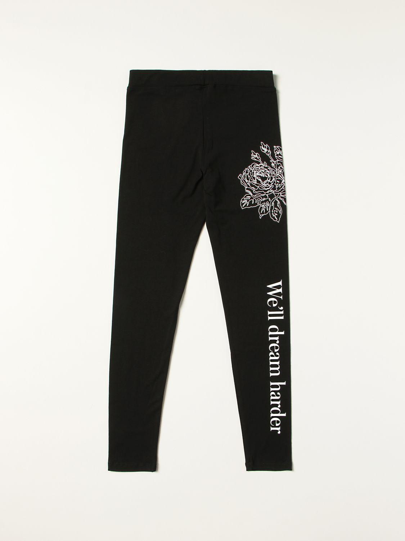 Trousers Msgm Kids: Msgm Kids leggings with logo print black 2
